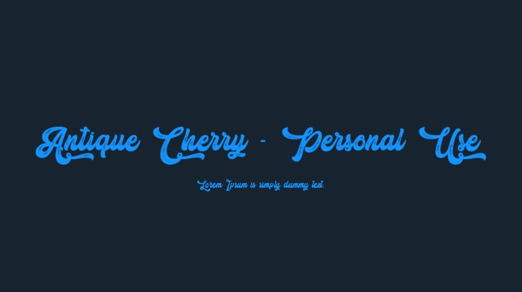 Antique Cherry - Personal Use Font