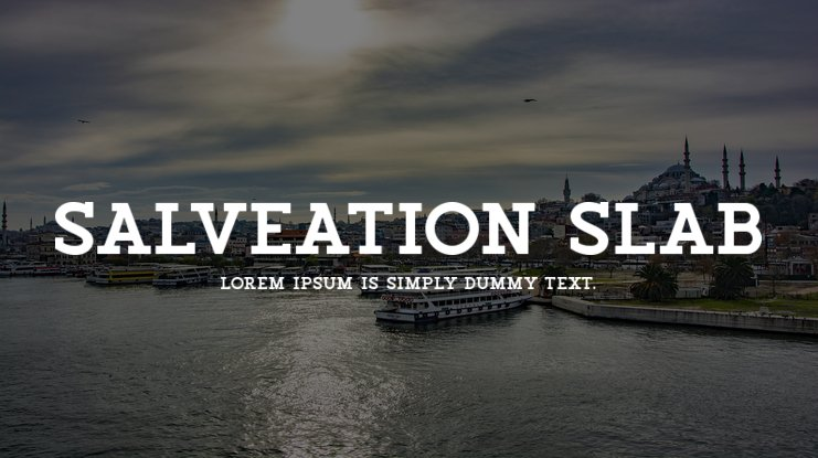 Salveation Slab Font