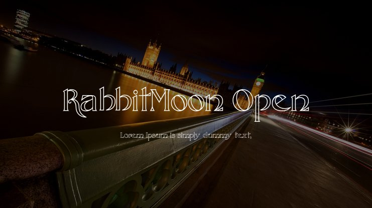 RabbitMoon Open Font