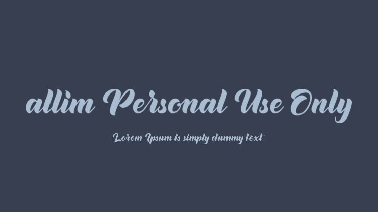 allim Personal Use Only Font
