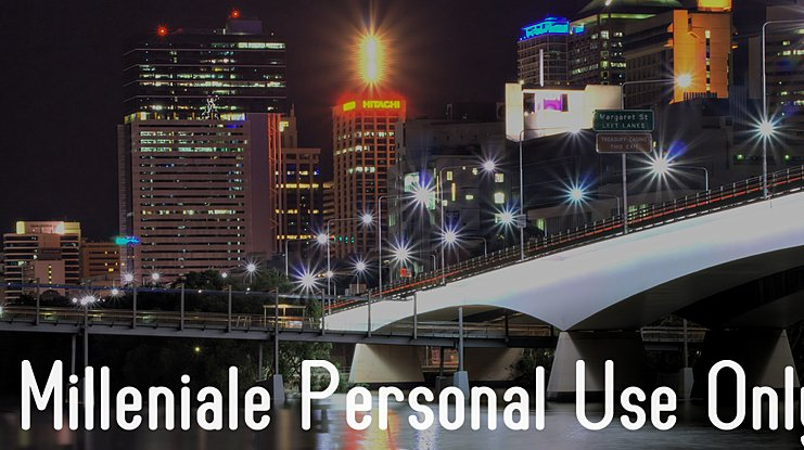 Milleniale Personal Use Only Font