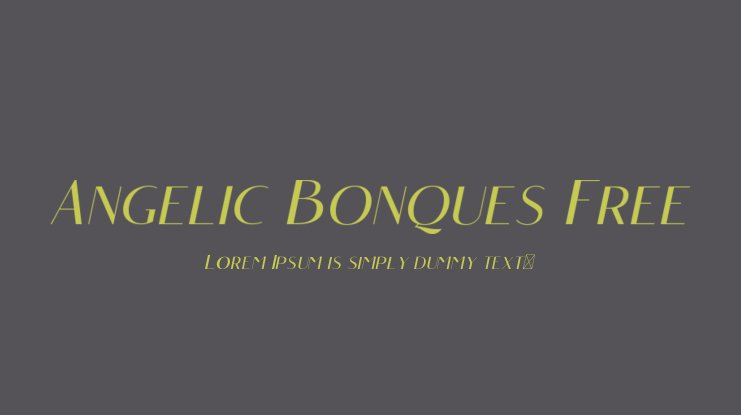 Angelic Bonques Free Font Family