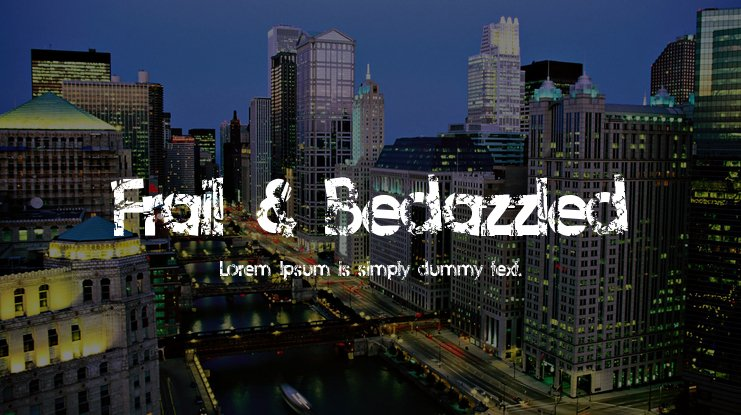 Frail & Bedazzled Font
