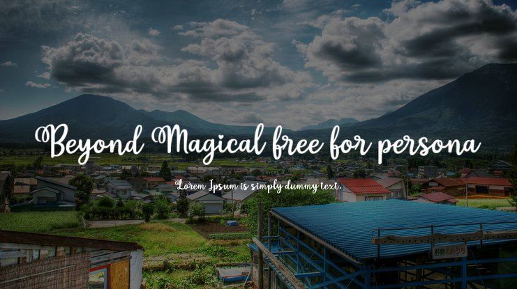Beyond Magical free for persona Font