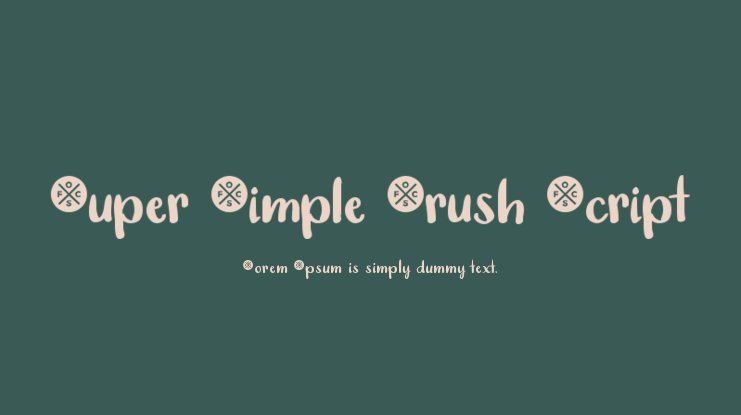 Super Simple Brush Script Font