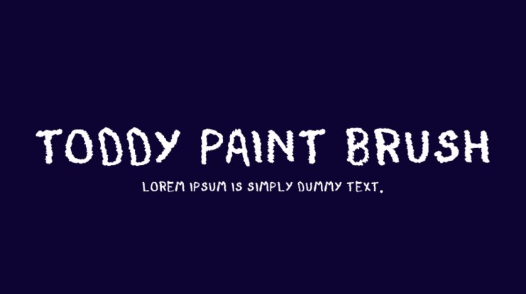 Toddy Paint Brush Font