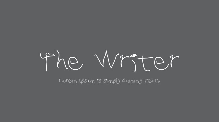 The Writer Font