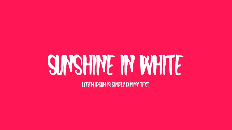 Sunshine In White Font