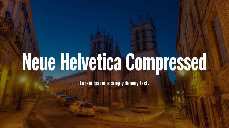 Neue Helvetica Compressed Font Family