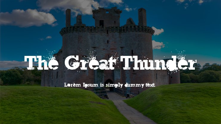 The Great Thunder Font