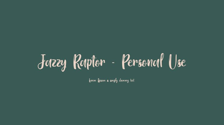 Jazzy Raptor - Personal Use Font