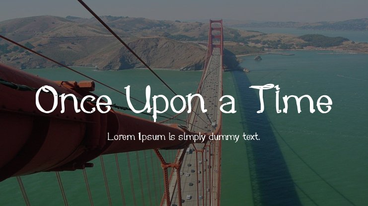 Once Upon a Time Font Family