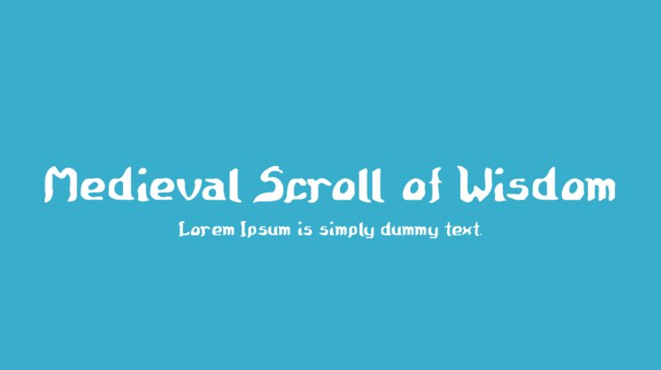Medieval Scroll of Wisdom Font