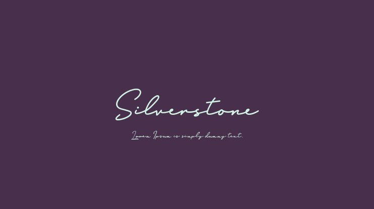 Silverstone Font Family
