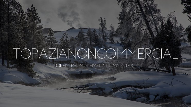 TopaziaNonCommercial Font
