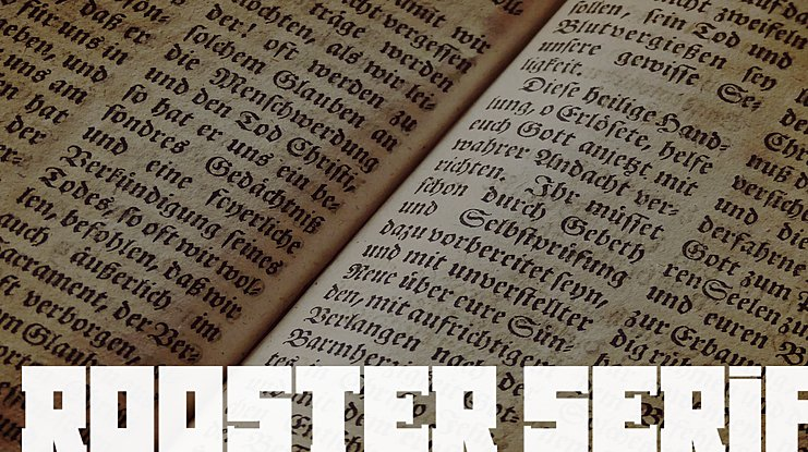 Rooster Serif Font