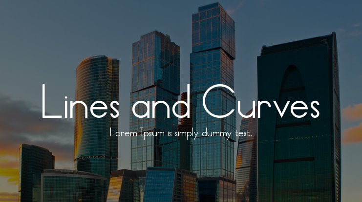 Lines and Curves Font