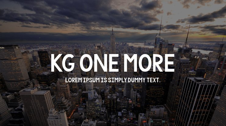 KG One More Font Family