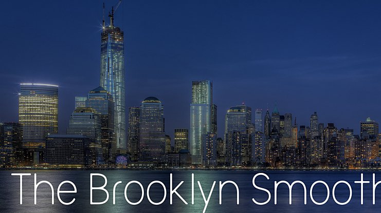 The Brooklyn Smooth Font