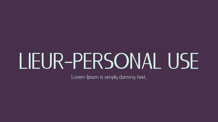 LIEUR-PERSONAL USE Font Family