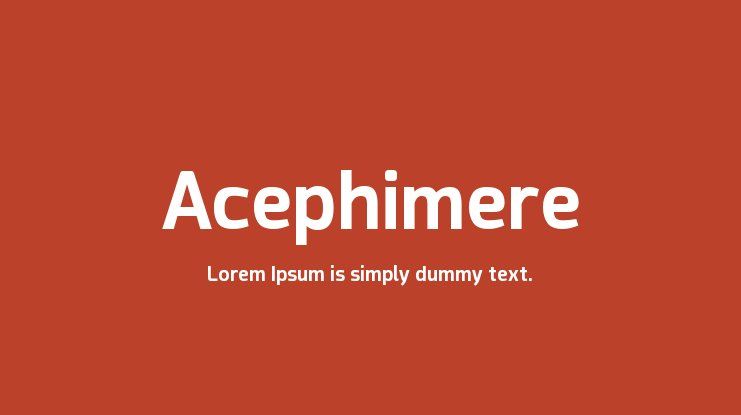 Acephimere Font Family