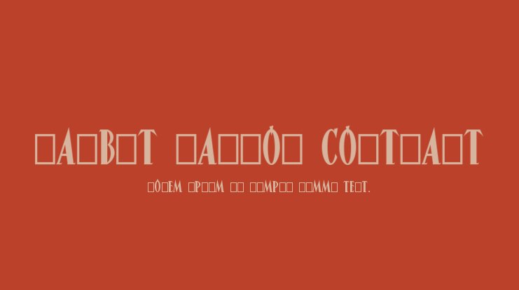 Narbut Narrow Contrast Font