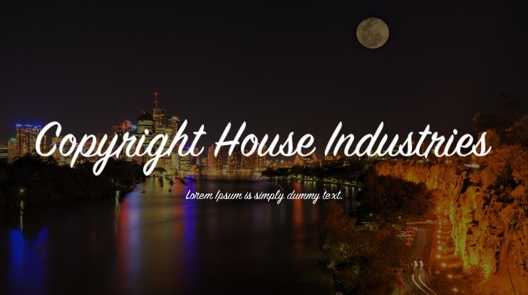 Copyright House Industries Font