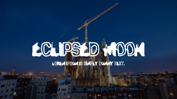 Eclipsed Moon Font Family