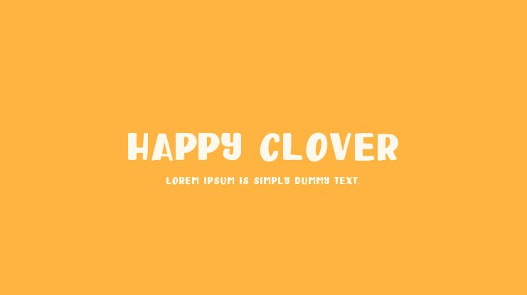 Happy Clover Font