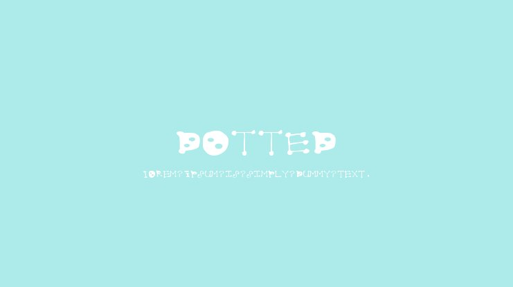 dotted Font