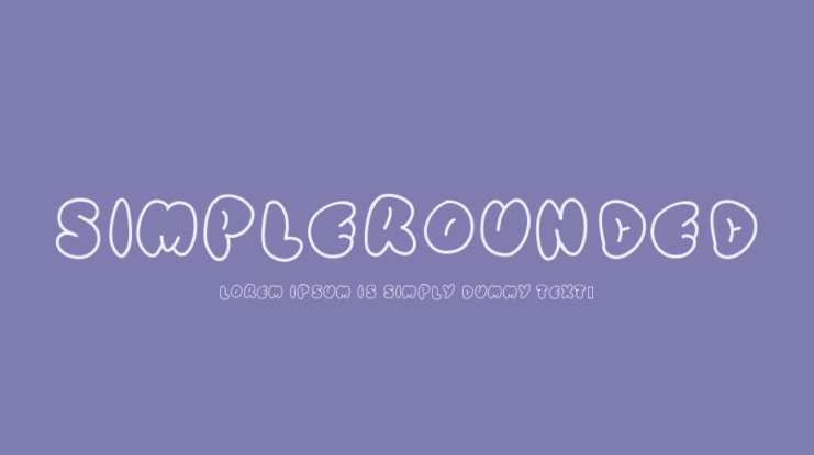 SimpleRounded Font