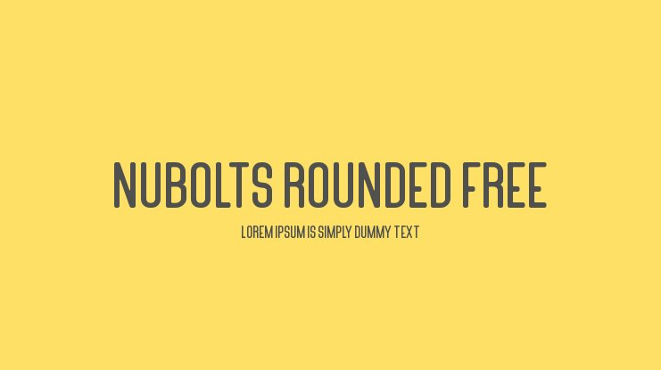 Nubolts Rounded Free Font