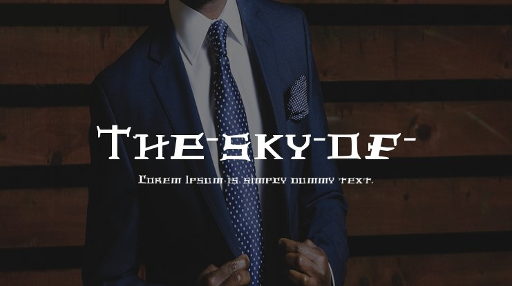 The-sky-of- Font