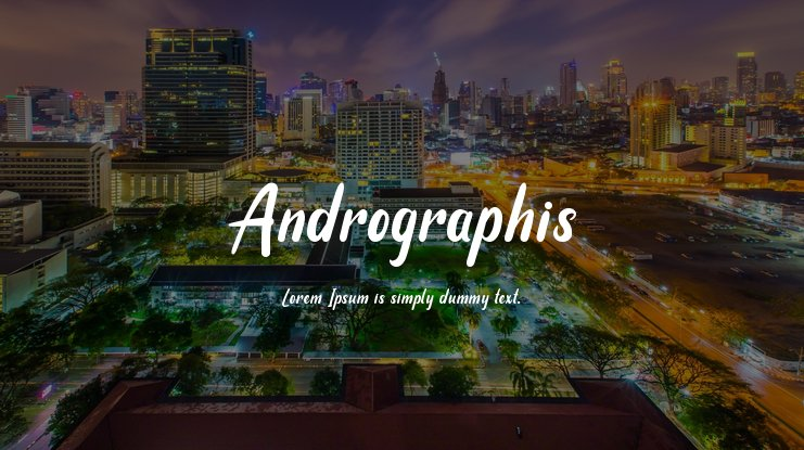Andrographis Font