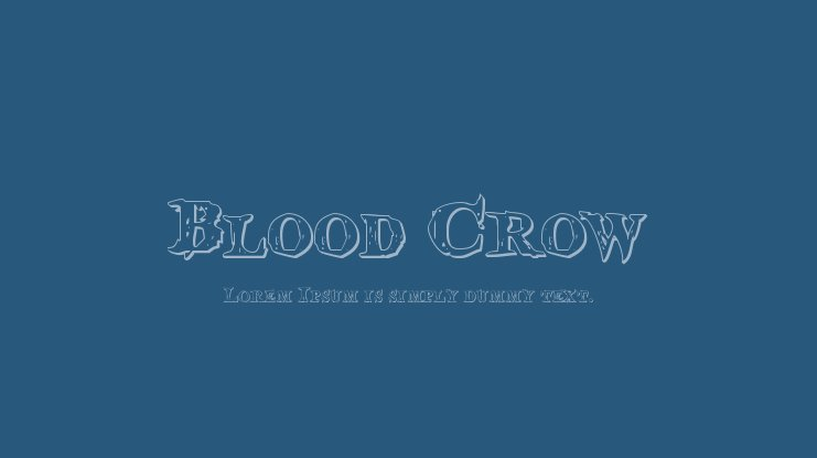 Blood Crow Font Family