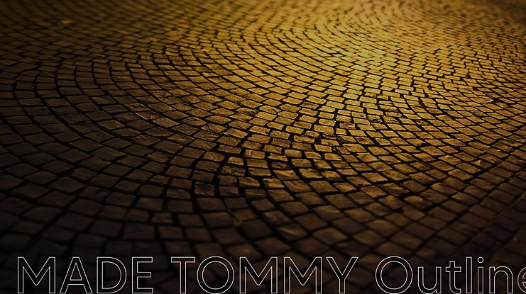 MADE TOMMY Outline Font Family