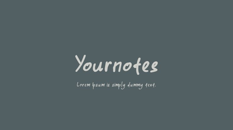 Yournotes Font