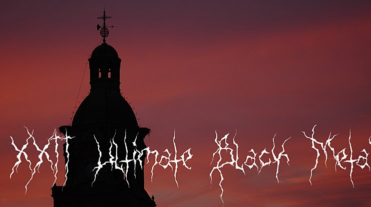 XXII Ultimate Black Metal Font