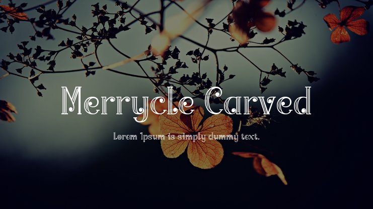 Merrycle Carved Font Family