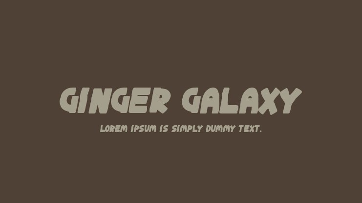 Ginger Galaxy Font
