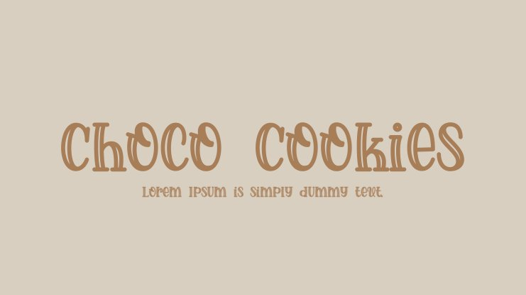 Choco Cookies Font
