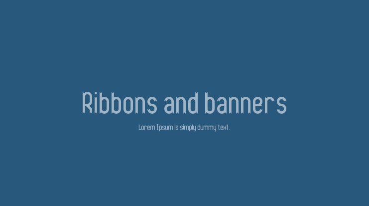 Ribbons and banners Font