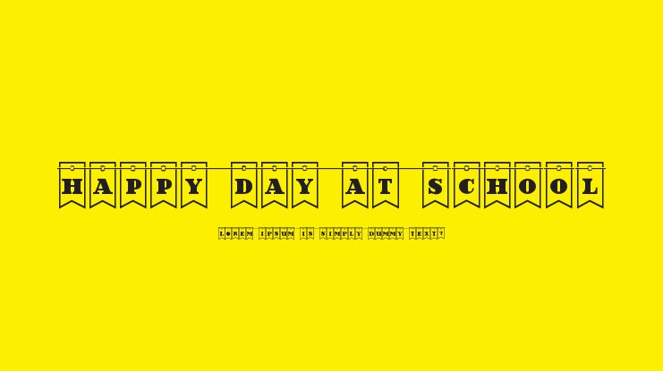 Happy Day at School Font Family
