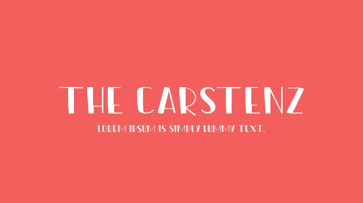 The Carstenz Font