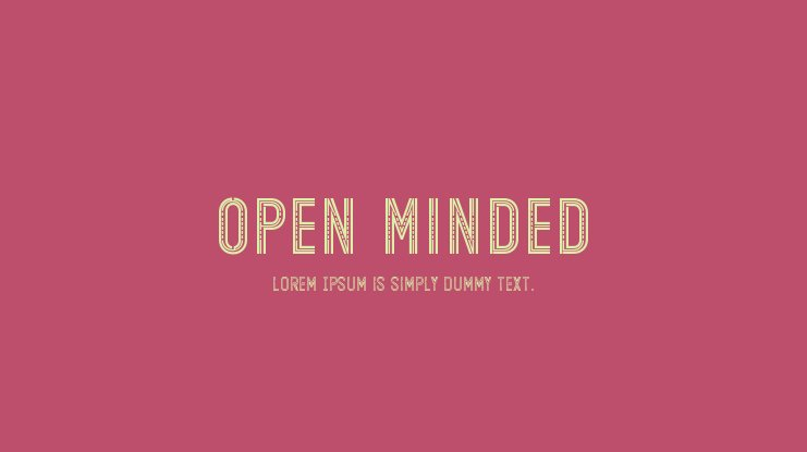 Open Minded Font Family