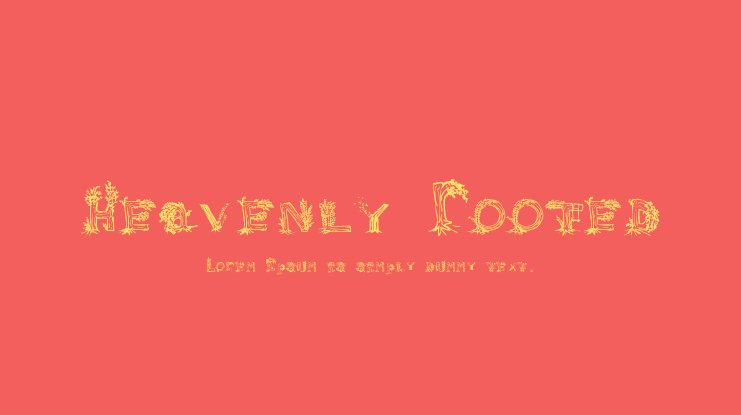 Heavenly Rooted Font