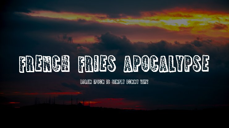 French Fries Apocalypse Font