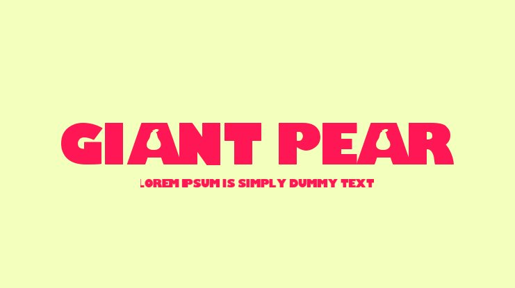Giant Pear Font