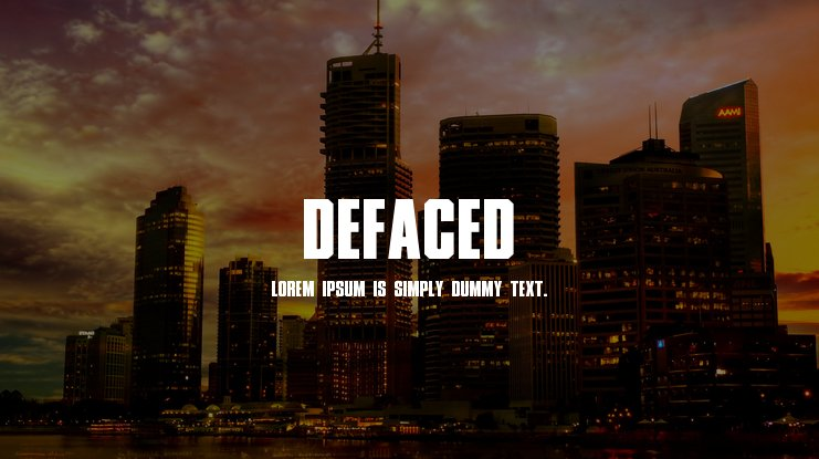 Defaced Font Family