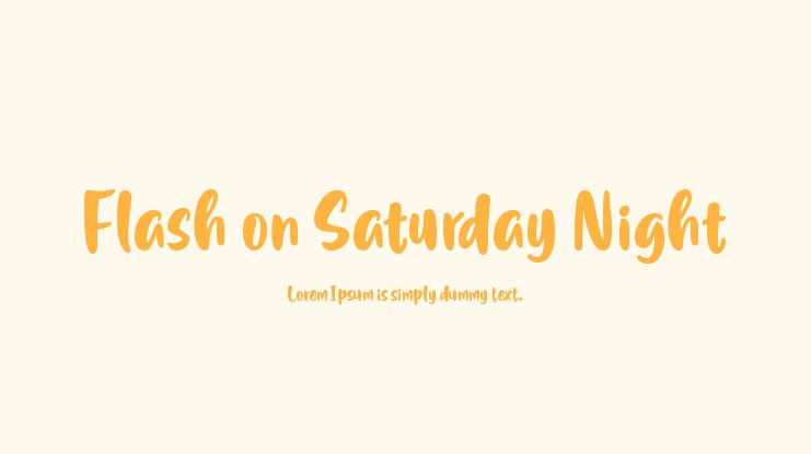 Flash on Saturday Night Font Family